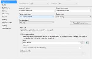 Custom Build Targeting .NET 4.5